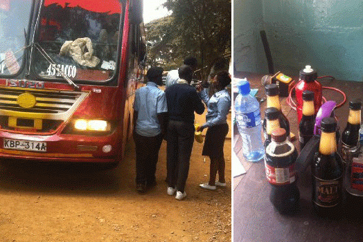 Police arrest students who were carrying Chang'aa to a trip