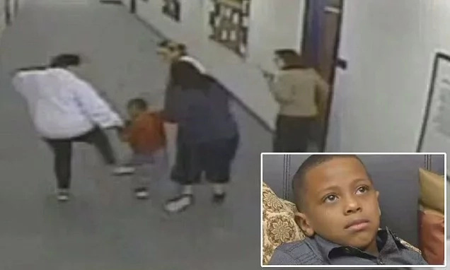 School counselor kicks 7-year-old special-needs student (photos, video)