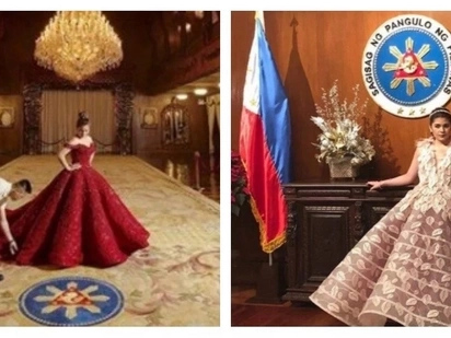 Malapit na mag-18 ang apo ni Digong! Stunning pre-debut photo shoot of Isabelle Duterte in Malacañang Palace