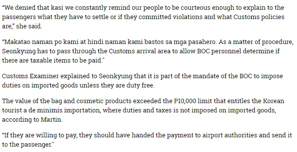 Kinikilan nga ba? Korean hits Customs men for alleged extortion and theft