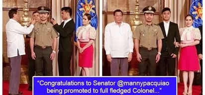 Proud wifey! Jinkee Pacquiao congratulates Senator Manny Pacquiao for being a full-fledged colonel