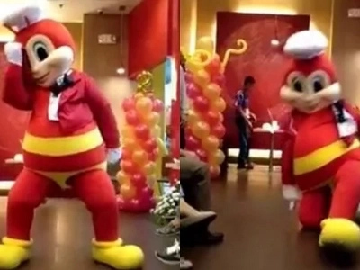 Jollibee shows off some serious sultry moves with his dance cover of 'Versace on the Floor'