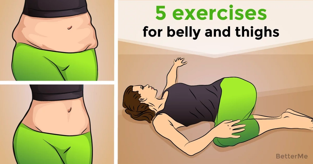 5 at-home exercises for your belly and thighs