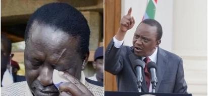 Raila acha zako! Mimi ndiye Rais na nina mamlaka – Uhuru amfokea vikali Raila