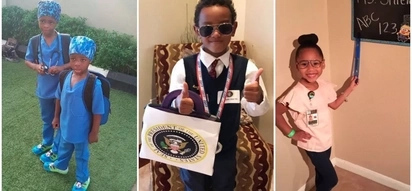 Adorable! Kids dress up as what they want to be when they grow up - and some are very ambitious