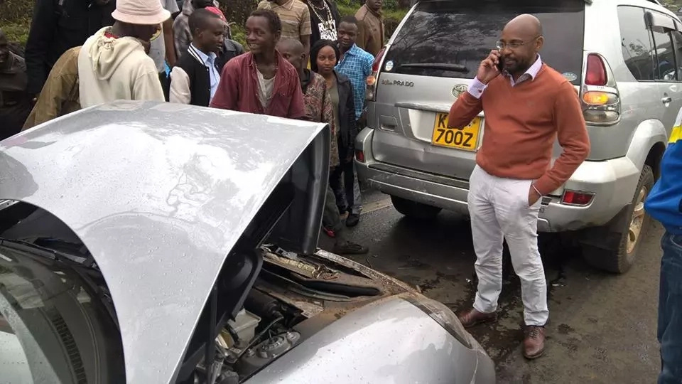 Son to Citizen TV owner involved in a ghastly road crash, arrested