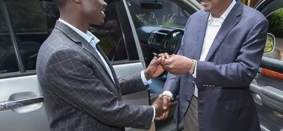 Pleasant surprise: Uhuru gifts brand new Toyota Prado to 'broke' 23-year-old MP