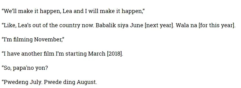 Is Aga Muhlach willing to work with ex-girlfriend Dayanara Torres?