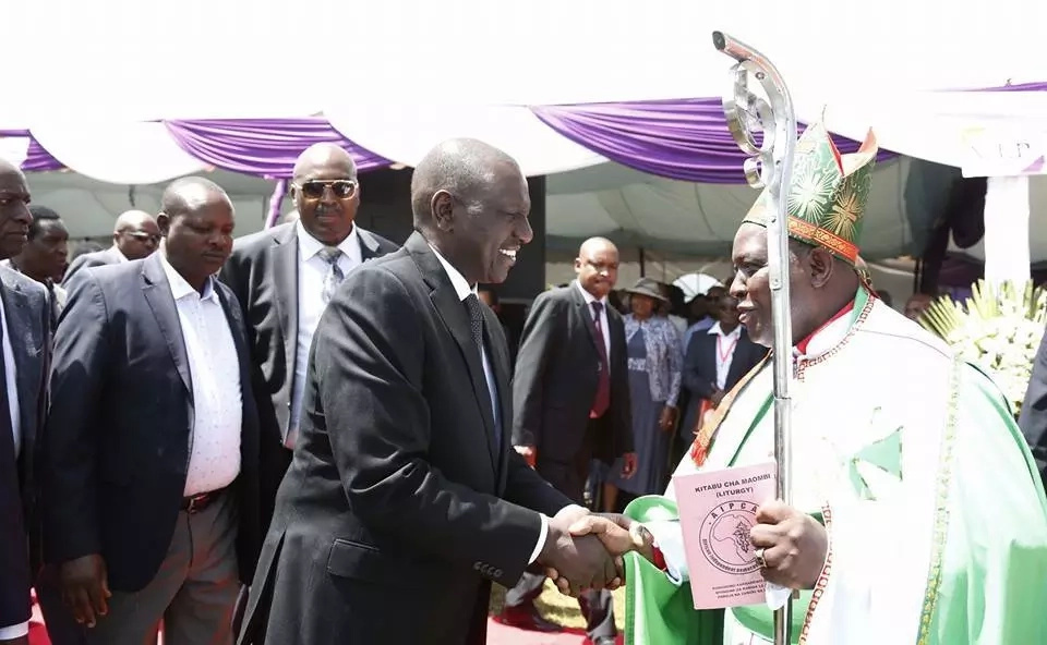 The Deputy President was attending a burial ceremony in Githunguri. Photo: William Ruto/Facebook