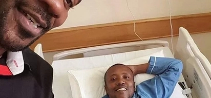 First public photos of Maina Kageni after accident and surgery