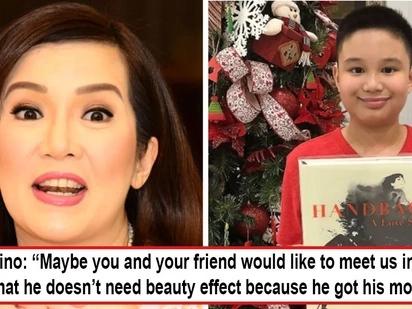 Di siya mana sa tatay! Kris Aquino shuts down basher accusing 'beauty effect' on Bimby's photo by saying, 'He's got mom's DNA'