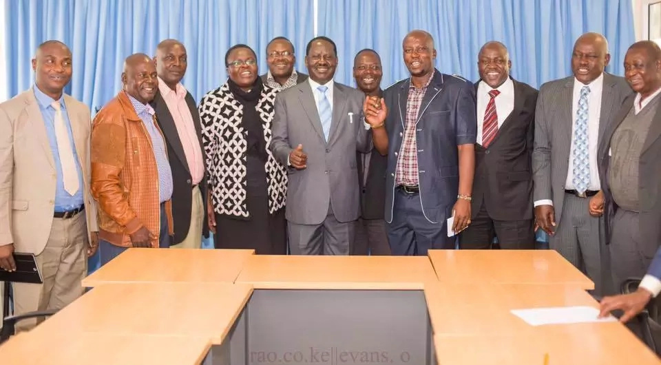 Raila hosts delegation from Ababu Namwamba's Budalang'i constituency
