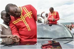 Rais Uhuru asisimua wengi kwa kumpa nafasi mwanafunzi mdogo kuhutubia wananchi kericho (picha)