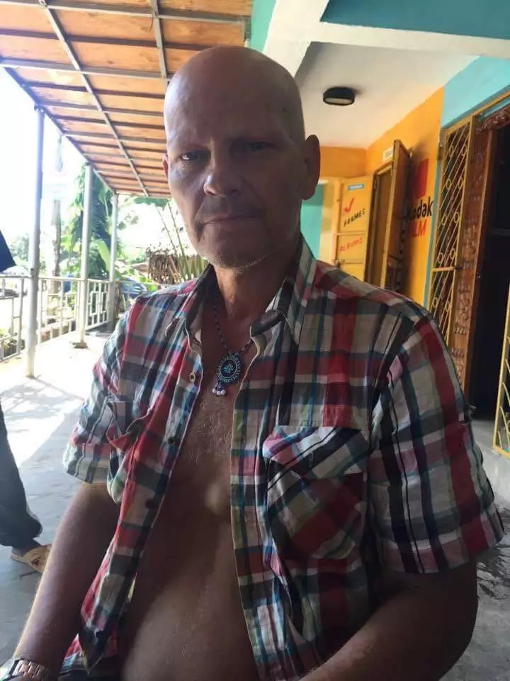 A German National robbed in Kenya living in poverty in Diani