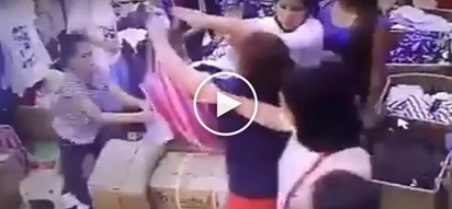 Pinay ukay-ukay employee and angry customers' vicious fight in Manila caught on CCTV