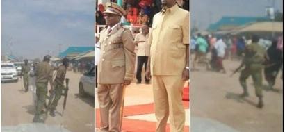 Fujo zazuka baada ya wafuasi wa chama KIPYA cha kisiasa kujaribu kuvuruga sherehe za Madaraka (picha)