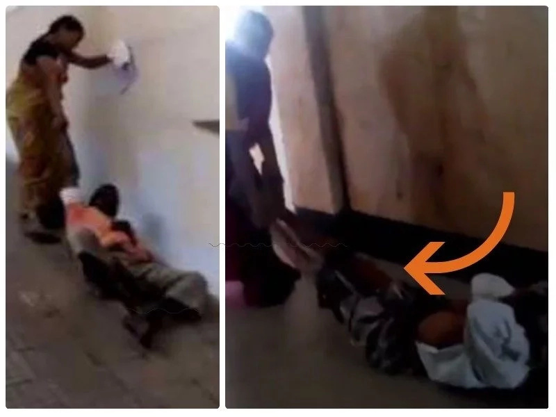 Heads roll after sick old man was DENIED wheelchair, forcing his wife to drag him on floor to x-ray room (photos)