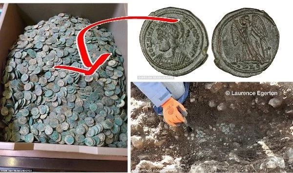 3rd largest hoard of Roman coins discovered in Devon.