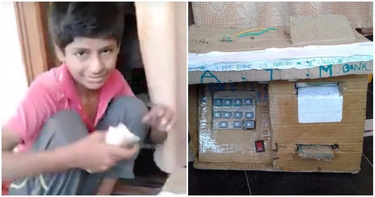 Genius student builds mini-ATM that releases money (video)