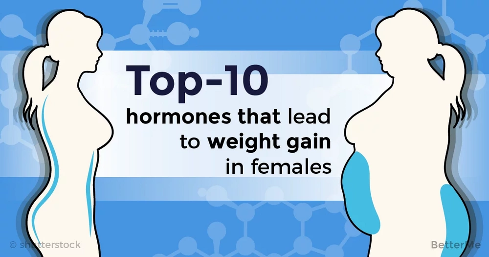 Top-10 hormones that lead to weight gain in females