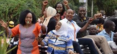 Kisa cha fedheha wakati wa maandamano ya NASA Nairobi (Picha/Video)