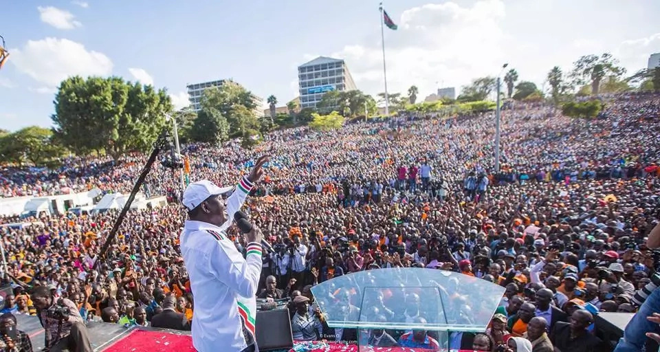 Raila Odinga and Kalonzo Musyoka to be sworn - in as People's President and deputy president at Uhuru Park