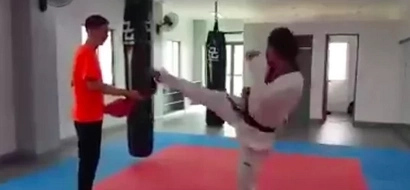 Baron Geisler starts training for cage match with Kiko Matos
