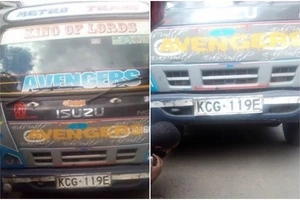 Watch the horrific moment when a Matatu crushes a Makanga in a stunt gone wrong at the Nganya awards