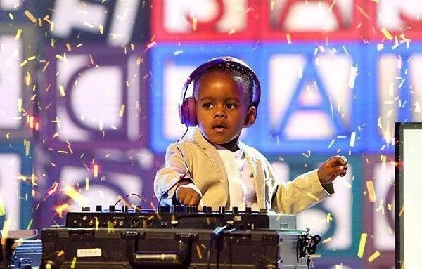 DJ Arch Jnr performing at South Africa's Got Talent in 2015