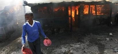 Wananchi Burn Marijuana Dealer's Shop In Nyeri
