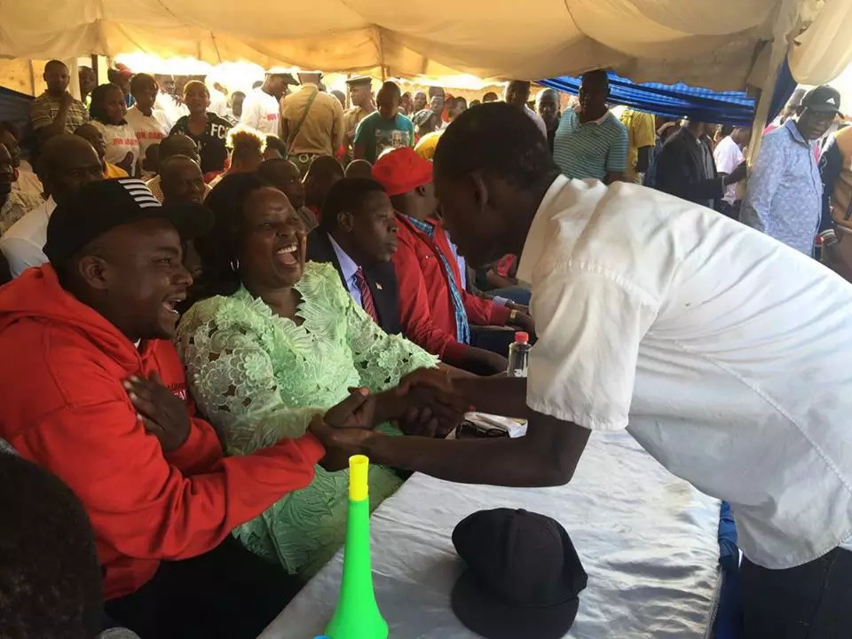 Drama after Mike Sonko storms rally organised by Wamalwa
