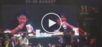 VIDEO: Filipino breaks world record by eating 5 BURGERS in 1 MINUTE