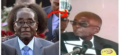 What just happened to Mugabe's hair? President's brand new look is creating a storm online (photos)