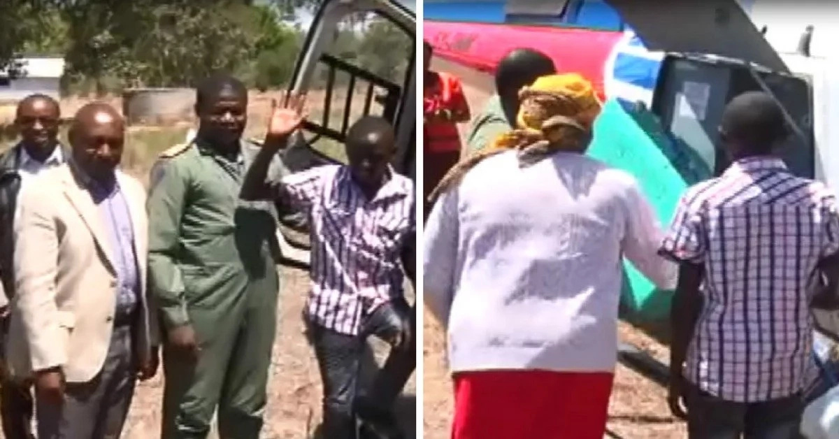 Form one student arrives to school in a chopper bringing operations to a standstill