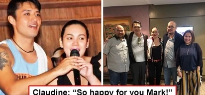 Balik-tambalan ang mag-jowa noon? Claudine Barretto and Mark Anthony Fernandez give fans kilig feels as the ex-lovers meet with Viva bosses