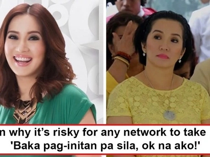 May natatakot ba sa bunganga ni Teta sa TV? Is Kris Aquino alluding to 'the powers that be' which could clamp down any network that would take her in?