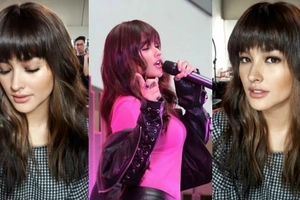 Liza Soberano is drop dead gorgeous with her full bangs x soft curls do