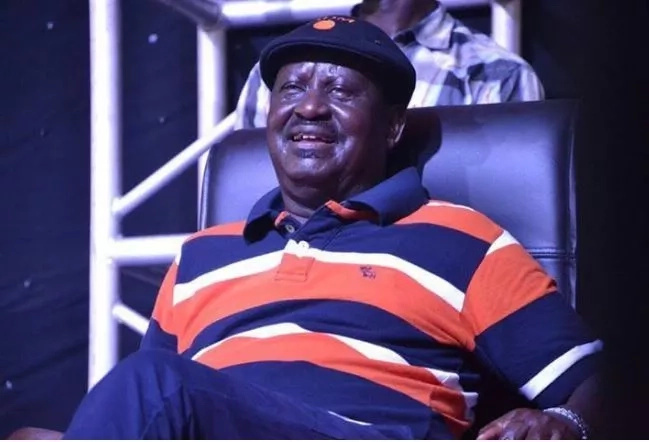 Opposition leader Raila Odinga.