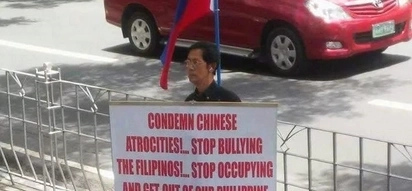 Man dubbed 'bravest Filipino' for protesting alone against China