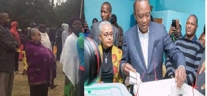 My wife spent three hours on the queue before voting - Uhuru speaks after voting