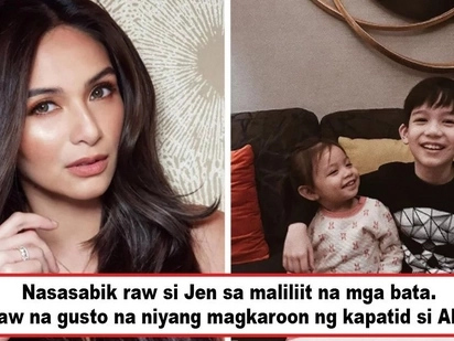 Gusto nang masundan si Jazz? Jennylyn Mercado displays yearning for a baby as she borrows her 2-year-old inaanak to stay with her overnight