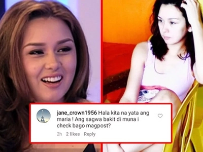 Gusto mo salamin? Beauty Gonzalez tells basher to take a closer look at her photo before making accusations