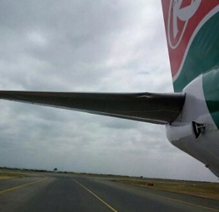 Main tyre on Kenya Airways plane bursts upon landing