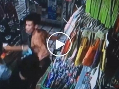 Brave Filipina store owner gets into scary fight with dangerous thief in Rizal