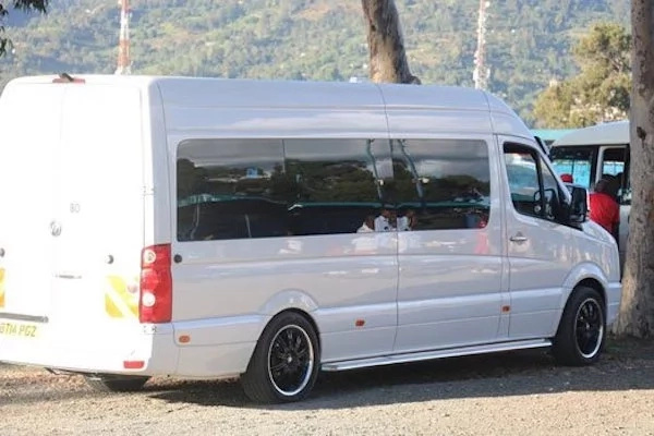 It's an eight-seater luxury van for his family in Kenya