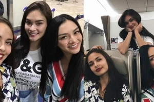 Bonding ng mga reyna! Pinay beauty queens Pia Wurtzbach, Megan Young, and Kylie Verzosa travel together to New York City