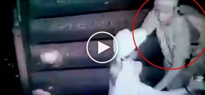 Pinoy hold-upper caught on CCTV robbing helpless woman at Pasay City overpass