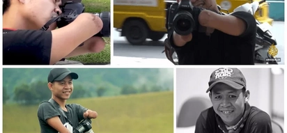 You don't need hands and legs to be a pro photographer! Man who was born without limbs uses his mouth