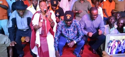Raila Odinga shows off his dancing moves in Kisii tour