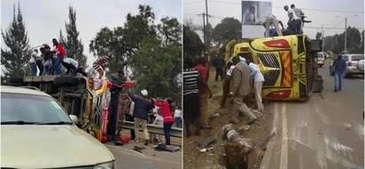 4 KILLED in grisly matatu accident on Langata Road (photos)